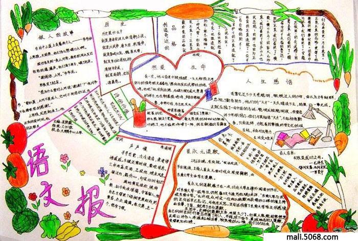 小学生语文手抄报花边设计