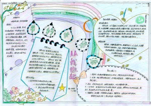 小学生节约用水手抄报设计