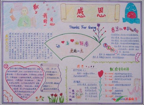 关于母爱的手抄报 献给母亲的诗