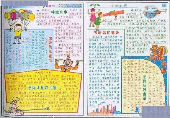 6.1儿童节手抄报--少年时代,包括国外的儿童节、怎样才是好儿童、考