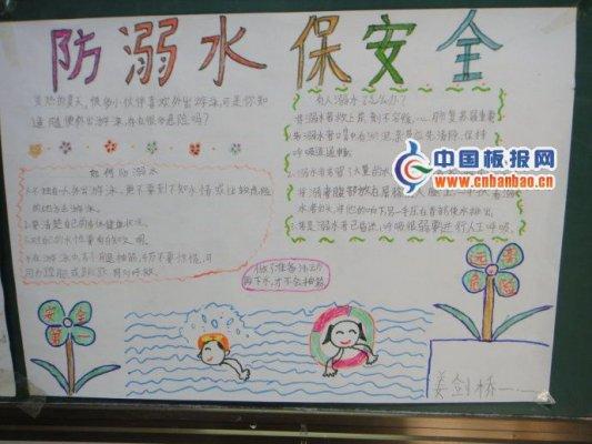 暑假安全手抄报 防溺水保安全图片
