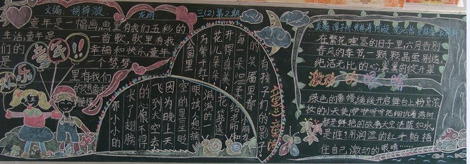 快乐童年黑板报图片
